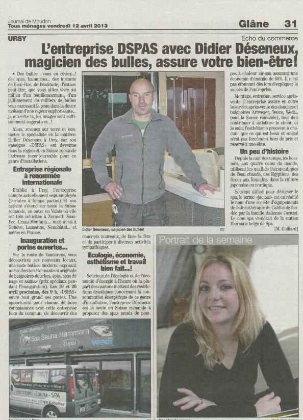 Article «Journal de Moudon»