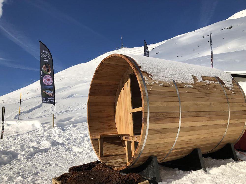 2 saunas Dspas sur les pistes à Anzère