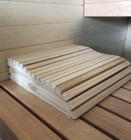 Appuie-tête en bois sauna