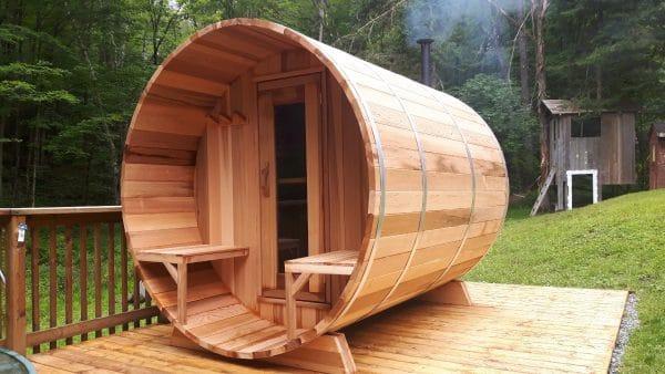 Sauna exterieur tonneau Dspas