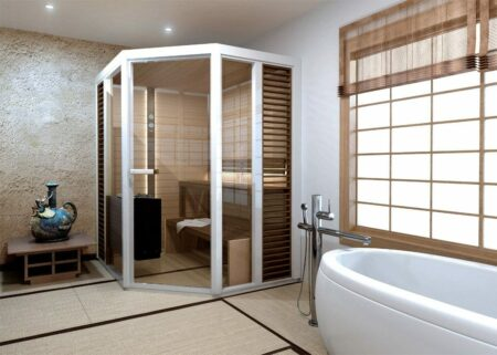 Tylo helo sauna Impression corner
