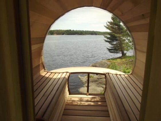 Sauna panoramique