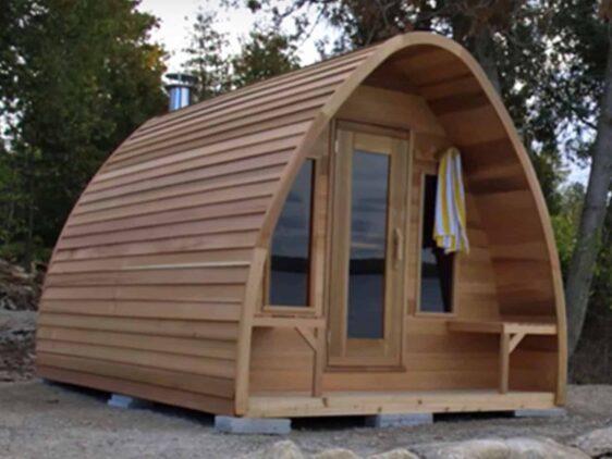 Sauna exterieur Leisure Pod en cedre rouge Dspas