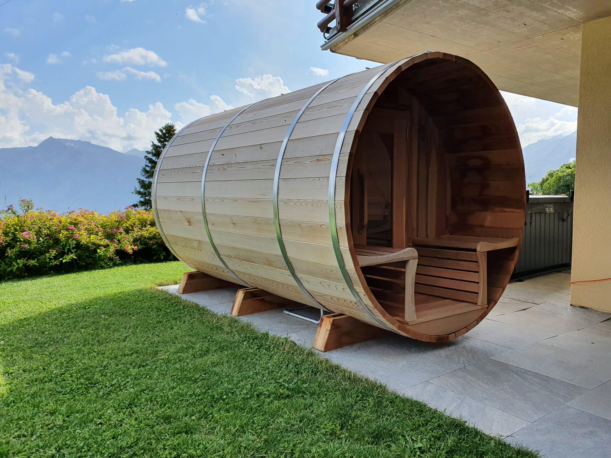 Sauna exterieur cèdre rouge canada