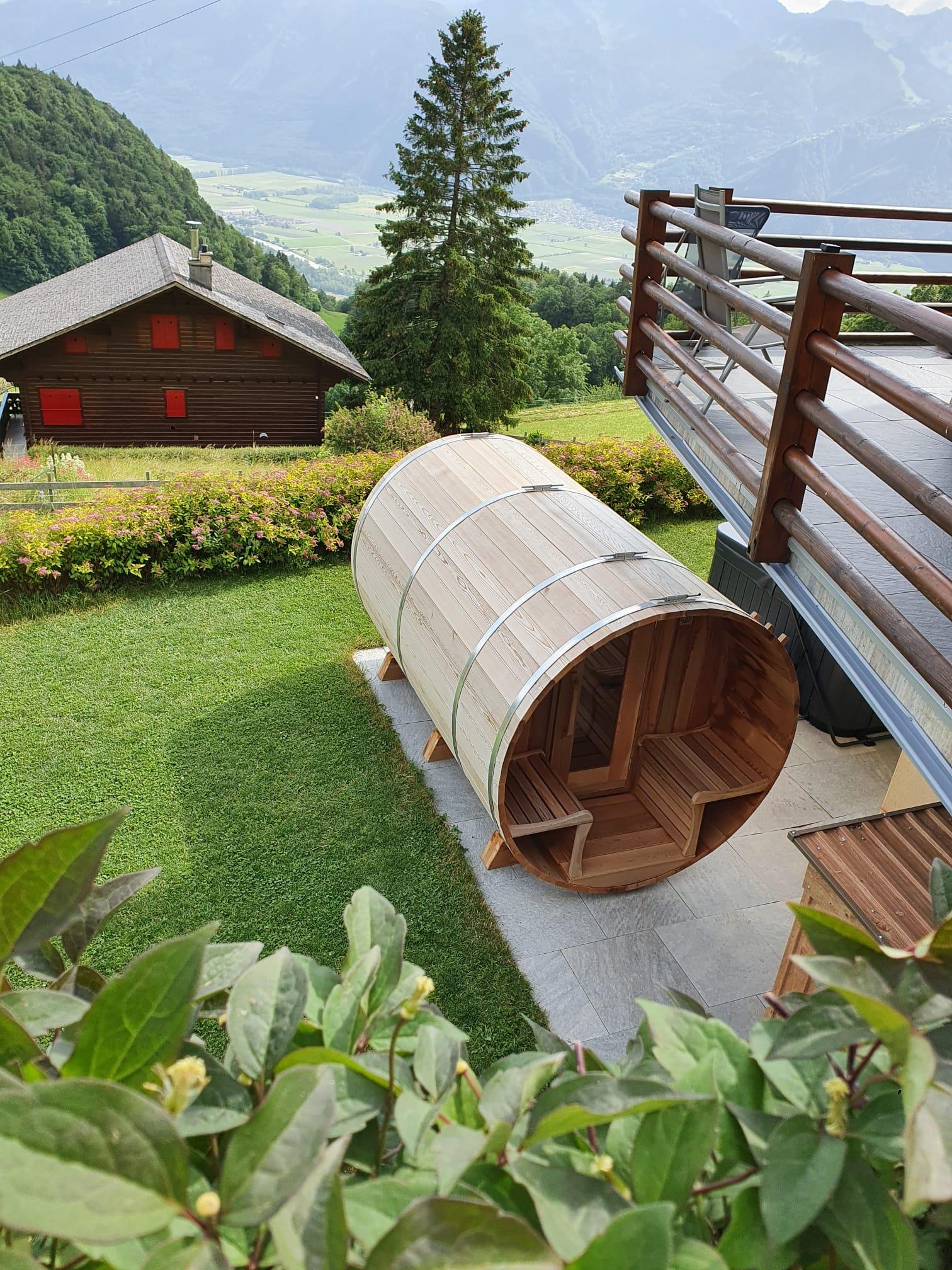 Sauna exterieur en cedre