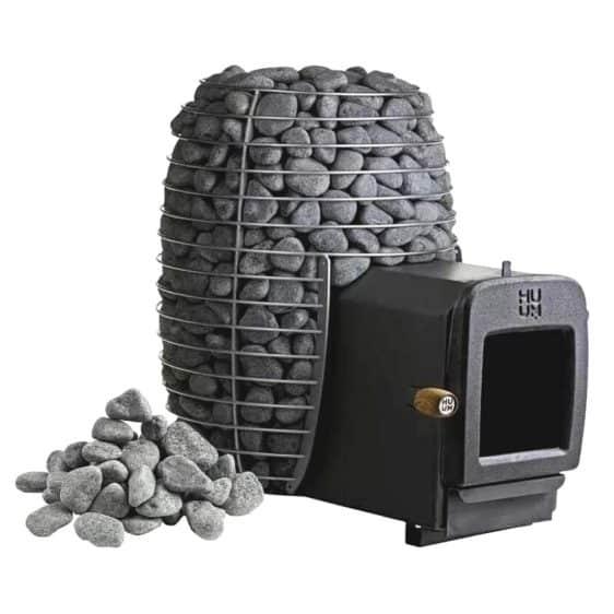 Poele a bois sauna Huum Hive Heat détails