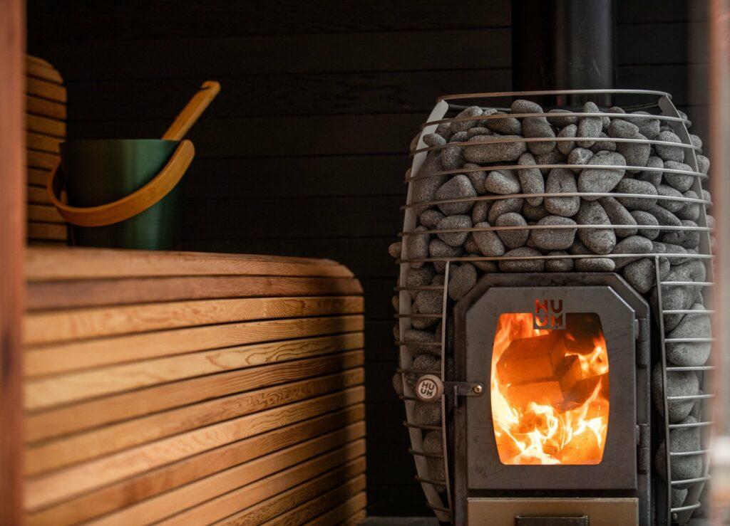 Poêle à bois pour sauna extérieur