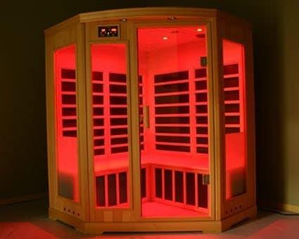 sauna infrarouge rouge
