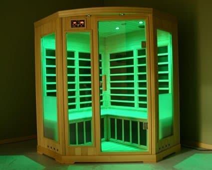 sauna infrarouge vert