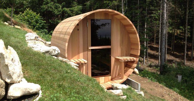 Sauna tonneau cèdre blanc